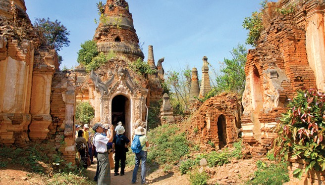 Ancient temple ruins in Myanmar - Pic: backroads.com