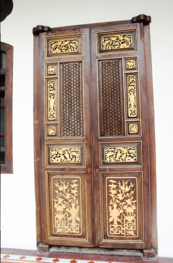 an ornate chinese door