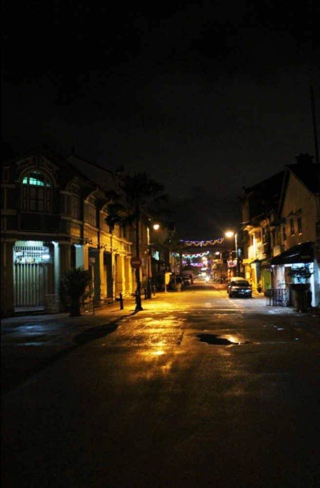 streets of penang at night
