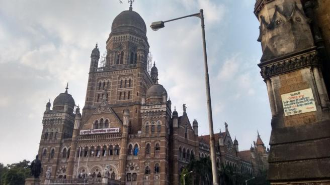 The BMC building opposite CST