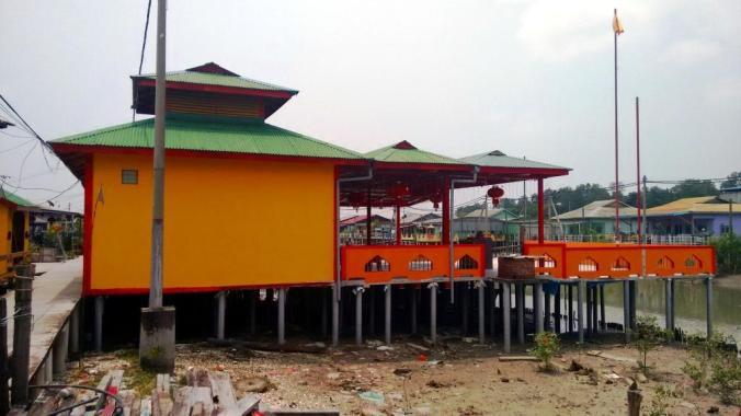 a temple on stilts