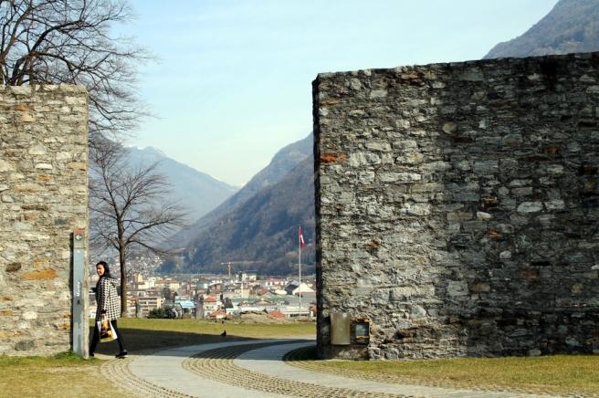 A wall, Castle Grande, Bellinzona