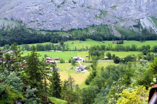 Ariel view of the Lauterbrunnen valley