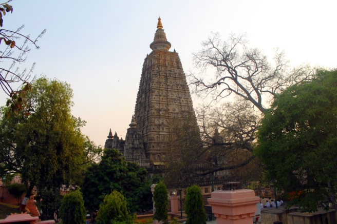 12. The Bodh Gaya temple in twilight