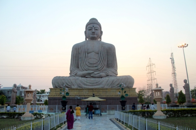 14. It took four years to complete this Buddha statue in Bodh Gaya