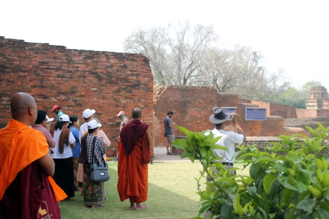 15. Monks visiting Nalanda