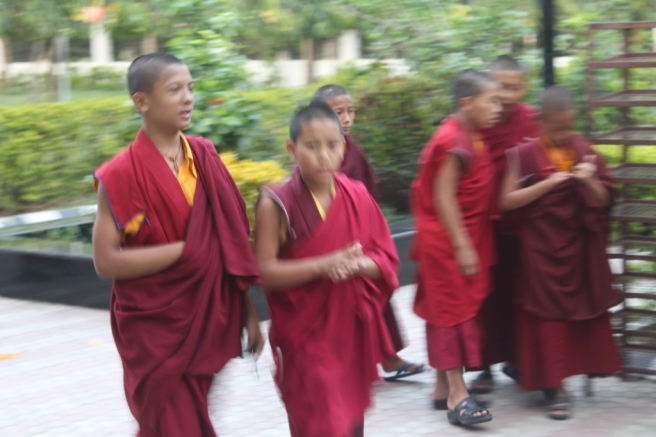 18. Monks in motion
