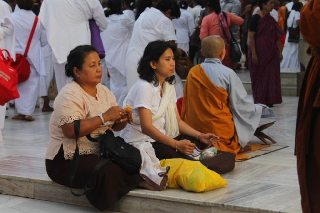 9. Pilgrims from all over the world visit Bodh Gaya